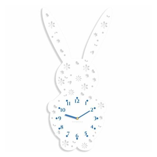 Detské nástenné hodiny v tvare zajačika