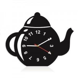 Dekoračné kuchynské hodiny v tvare čajníka