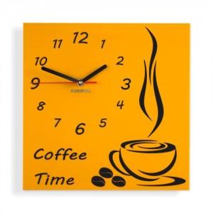 Coffee Time nástenné kuchynské hodiny
