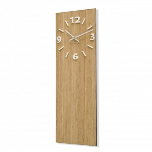 Nástenné hodiny z bambusového dreva