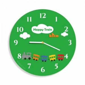 Detské nástenné hodiny s motívom vláčika