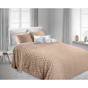 Luxusné chlpaté deky a prehozy v béžovej farbe
