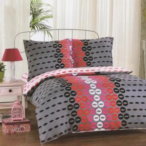 Sivé posteľné obliečky so vzorom 160x200cm