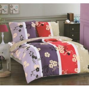 Farebné posteľné obliečky s motívom kvetov