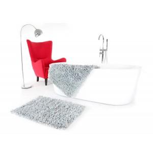 Svetlo sivá predložka do kúpeľne