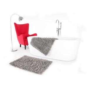 Kúpeľňový koberček v sivej farbe