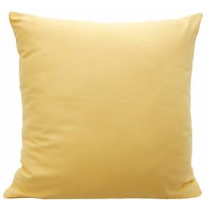 Kvalitný dekoratívny poťah na vankúš v žltej farbe