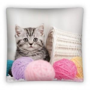 Detská dekoračná obliečka s mačičkou