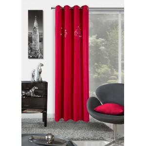 Luxusné červené závesy na okná