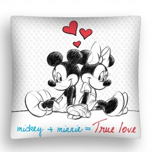 Mickey+Minnie detská obliečka na vankúš bielej farby