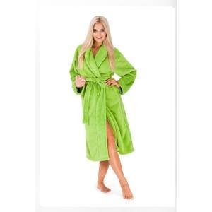 Zelené dámske zavinovacie župany