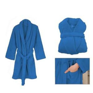 Teplé dámske župany modrej farby