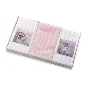 Biely set kuchynských uterákov s motívom VINTAGE
