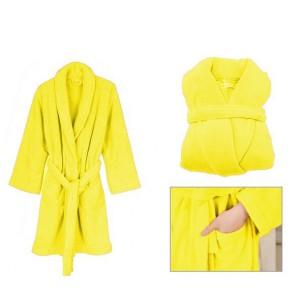 Žlté dámske župany bez kapucne
