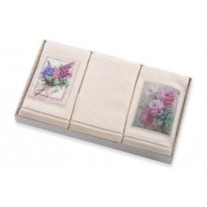 Sada kuchynských uterákov s kvetmi