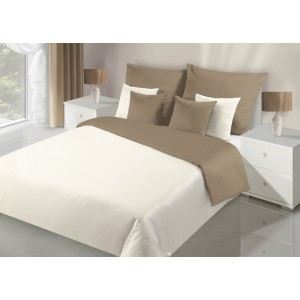 Krémové obojstranné obliečky na posteľ