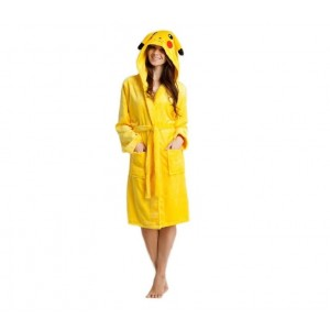 Žlté dámske župany s kapucňou PIKACHU