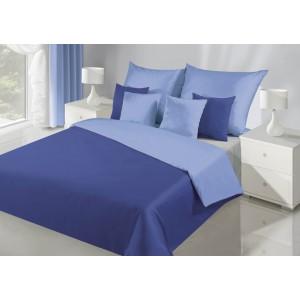 Kvalitné obojstranné obliečky na posteľ v modrej farbe