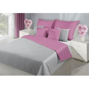Farebné obojstranné obliečky na posteľ v sivej farbe