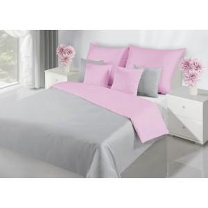 Kvalitné obojstranné obliečky na posteľ v ružovej farbe