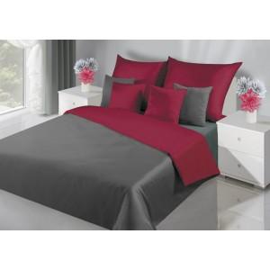 Obojstranné luxusné posteľné obliečky v bordovej farbe