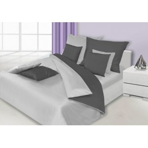 Kombinované obojstranné obliečky na posteľ v sivej farbe