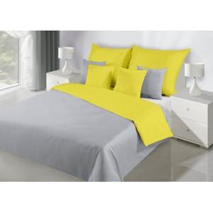Kvalitné obojstranné posteľné obliečky v žltej farbe