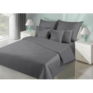 Tmavo sivé jednofarebné posteľné obliečky