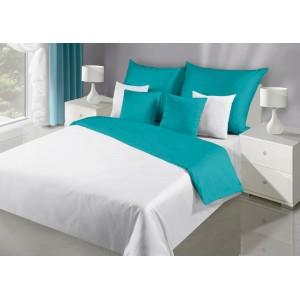 Nádherné obojstranné posteľné obliečky v tyrkysovej farbe