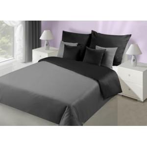 Čierne obojstranné posteľné prádlo