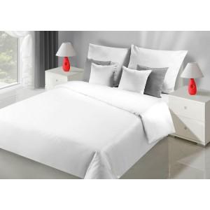 Jednoduché biele obojstranné posteľne obliečky