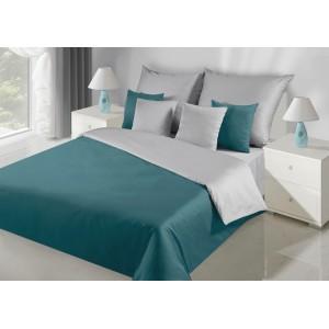 Sivo tyrkysové obojstranné posteľne obliečky z kvalitného materiálu