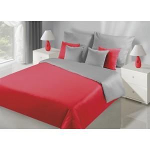 Obojstranné posteľné obliečky v strieborno červenej farbe