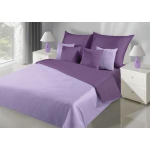 Kombinovaná obojstranná posteľná bielizeň vo fialovej farbe
