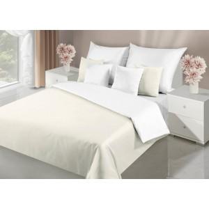 Elegantné krémovo biele obojstranné posteľné obliečky