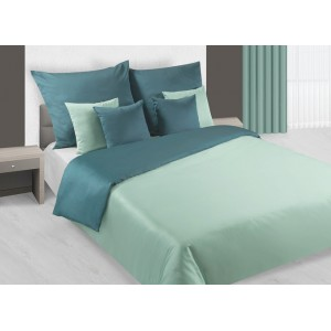 Zaujímavé obojstranné posteľne obliečky v zeleno tyrkysovej farbe