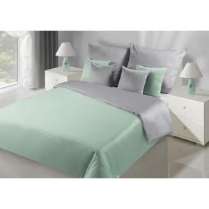 Luxusné obojstranné posteľné obliečky v zeleno striebornej farbe