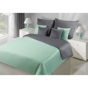 Obojstranné zeleno sivé posteľne obliečky