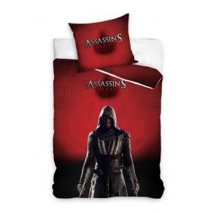 Červené detské posteľné obliečky s motívom Assassin's Creed