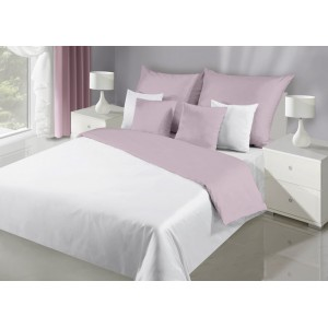 Ružovo bielé kvalitné obojstranné posteľné obliečky