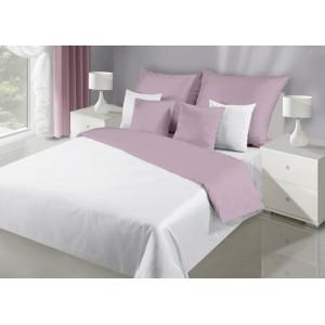 Elegantné bielo fialové obojstranné posteľne obliečky