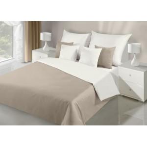 Béžovo krémové posteľné obojstranné obliečky