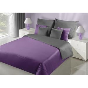 Obojstranné posteľné obliečky v sivo fialovej farbe