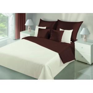 Kvalitné krémovo hnedé obojstranné posteľné obliečky