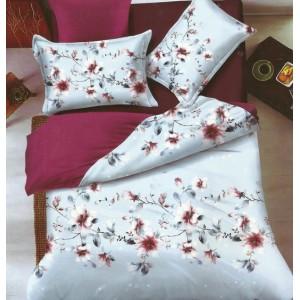 Modro bordové obojstranné posteľné obliečky