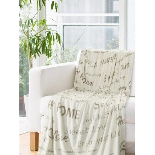 Krémové deky s potlačou béžovej farby