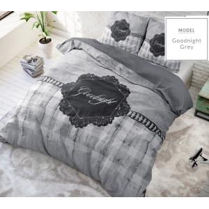 Goodnight sivé posteľné obliečky z mikrovlákna