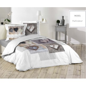 Bavlnené posteľné obliečky bielej farby s motívom srdiečok