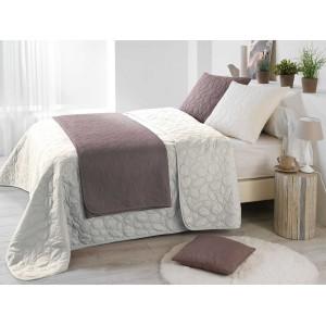 Francúzsky prehoz na posteľ krémovej farby