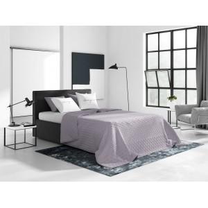 Prešívaný obojstranný jednofarebný prehoz na posteľ v svetlo fialovej farbe